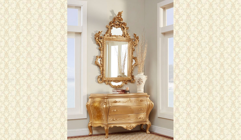 French Provincial Bombay & Mirror